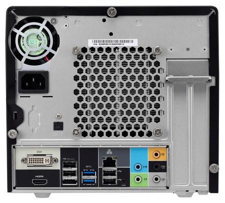 Shuttle XPC SZ68R5 Barebone Mini PC for 2nd Gen Intel Core back