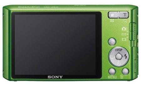 Sony Cyber-shot DSC-W610 digital camera green back