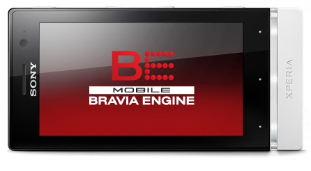 Sony Xperia U Android Smartphone display