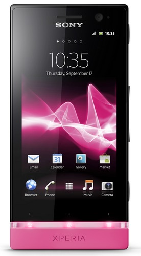 Sony Xperia U Android Smartphone pink