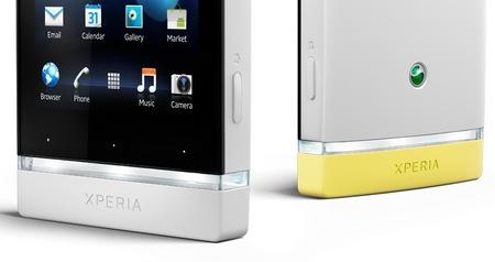 Sony Xperia U Android Smartphone white yellow