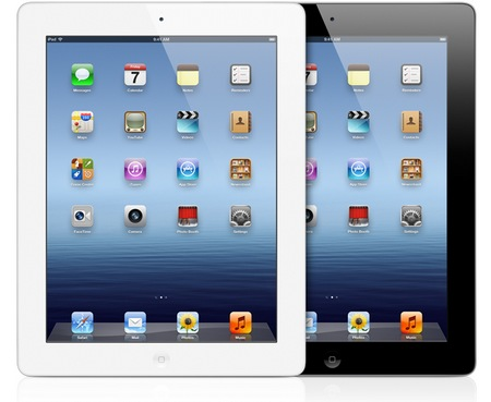 Apple announced the new iPad - A5X CPU, Retina Display and LTE 4G black white