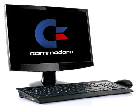 Commodore VIC-SLIM Ultra-slim Keyboard PC with monitor