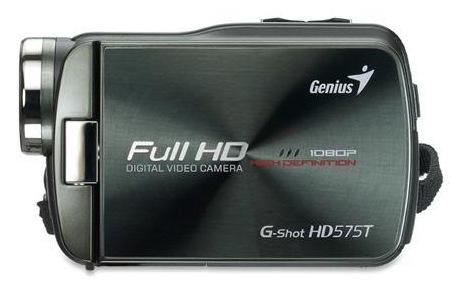 Genius G-Shot HD575T Full HD Camcorder side