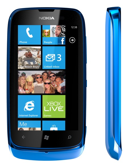 Nokia Lumia 610 Affordable Windows Phone cyan