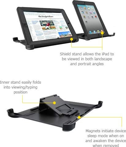 OtterBox Defender Series iProtection Case for new iPad Shield Stand