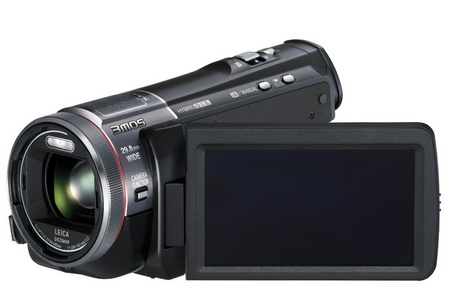 Panasonic HC-X900M Full HD Camcorder with 3MOS System Pro and Leica Lens lcd