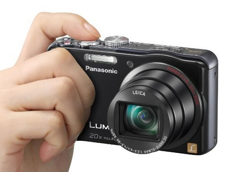 Panasonic LUMIX DMC-ZS20 20x Zoom Camera on hand