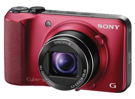 Sony Cyber-shot DSC-HX10V 16x optical zoom camera red