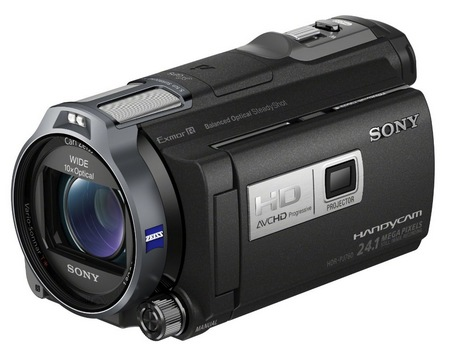 Sony Handycam HDR-PJ760V Camcorder with built-in Projector side