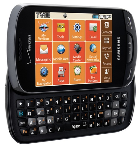 Verizon Samsung Brightside QWERTY Phone keyboard open