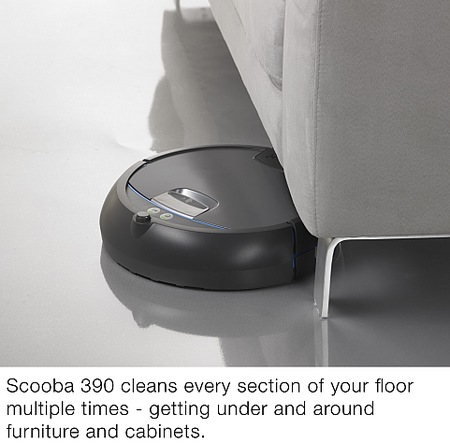 iRobot Scooba 390 Floor Washing Robot under sofa