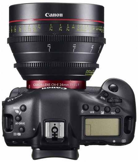 Canon EOS-1D C DSLR Camera with 4K Video Recording top