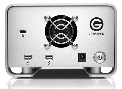 G-Technology G-Raid with Thunderbolt Dual-drive Storage Device back