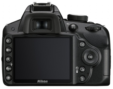 Nikon D3200 Entry-level DSLR Camera back
