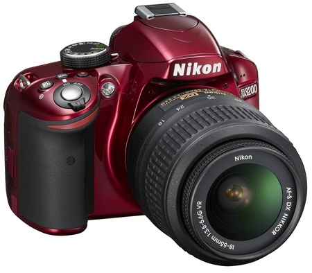 Nikon D3200 Entry-level DSLR Camera red angle