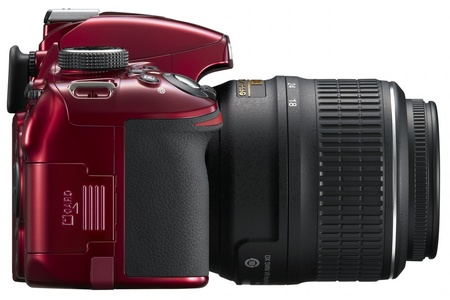 Nikon D3200 Entry-level DSLR Camera side red