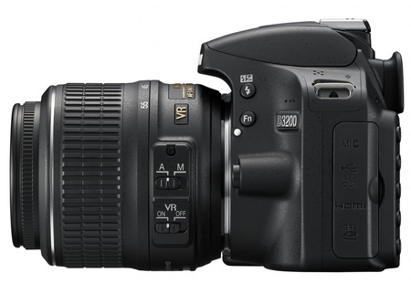 Nikon D3200 Entry-level DSLR Camera side