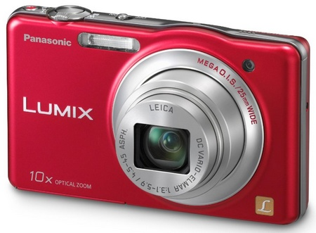 Panasonic LUMIX DMC-SZ1 10x zoom slim camera red