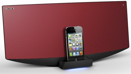 Sony CMT-V75BTiP ipad hifi system red