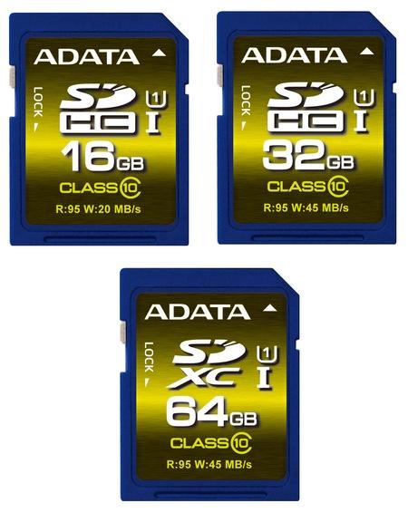 ADATA Premier Pro SDHC SDXC UHS-I U1 Memory Cards
