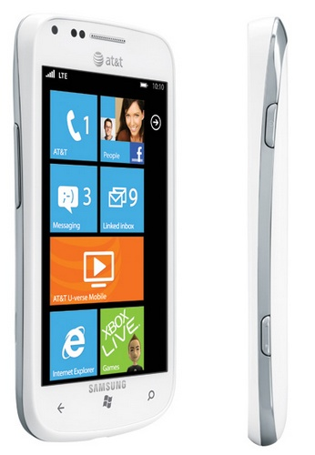 AT&T Samsung Focus 2 Windows Phone supports 4G LTE side