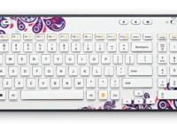 Logitech Wireless Keyboard K360 Global Graffiti Collection Purple Paisley