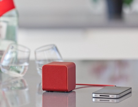 NuForce Cube combines Portable Speaker, Headphones Amplifier and USB DAC red