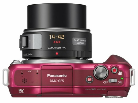Panasonic LUMIX DMC-GF5 Micro Four Thirds Camera red top