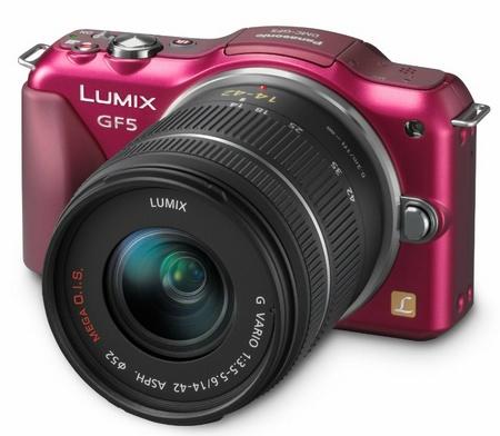 Panasonic LUMIX DMC-GF5 Micro Four Thirds Camera red with 14-42mm standard zoom lens