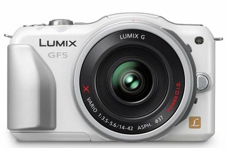 Panasonic LUMIX DMC-GF5 Micro Four Thirds Camera white front
