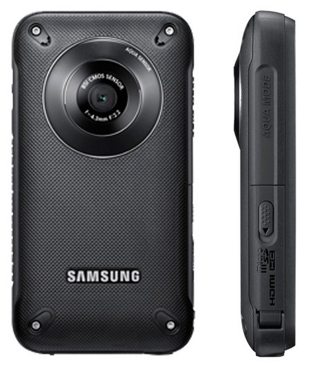 Samsung Pocket Cam HMX-W300 Rugged Pocket Full HD Camcorder black