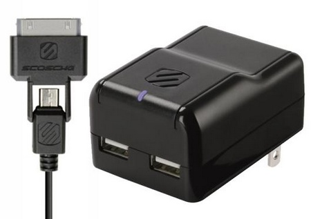 Scosche reVOLT h2 pro 2-port USB Wall Charger