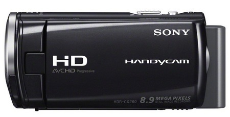 Sony Handycam HDR-CX260V Full HD Camcorder side