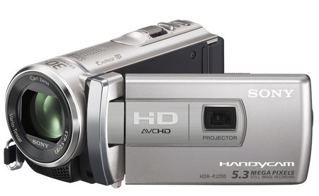 Sony Handycam HDR-PJ200 Entry-level Projector Camcorder 1