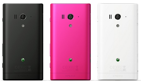 Sony Xperia acro S Waterproof Smartphone back colors