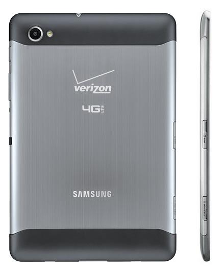 Verizon Samsung Galaxy Tab 7.7 LTE 4G Android Tablet back