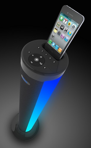 iHome iP76 Color-changing Bluetooth Speaker Tower with iPhone dock