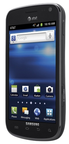 AT&T Samsung Galaxy Exhilarate LTE Smartphone angle