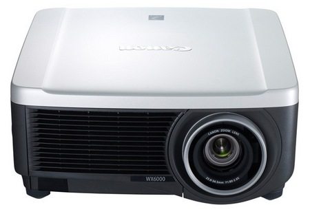 Canon REALiS SX6000 and REALiS WX6000 Pro AV Series Multimedia LCOS Projectors front