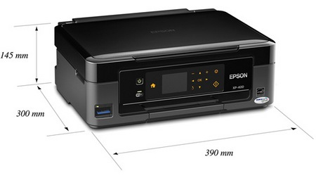 Epson Expression Home XP-400 Small-in-One Wireless Printer dimension