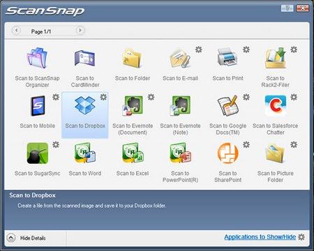 Fujitsu ScanSnap S1300i Mobile Scanner app