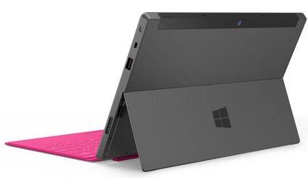 Microsoft Surface for Windows RT and Windows 8 Pro back