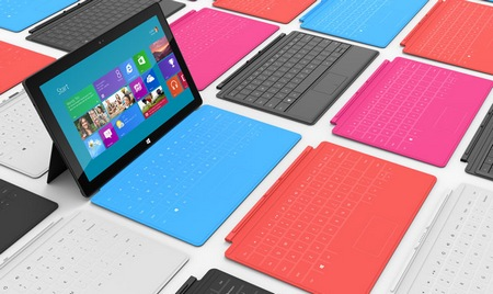 Microsoft Surface for Windows RT and Windows 8 Pro with touch cover type cover