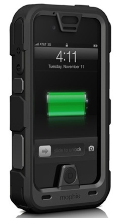 Mophie juice pack PRO Rugged iPhone Battery Case angle
