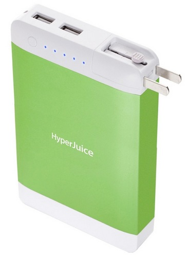 Sanho HyperJuice Plug P15 High-capacity Portable Battery green