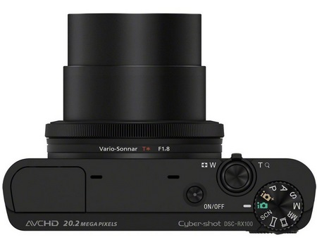 Sony Cyber-shot DSC-RX100 Compact Camera with Large Sensor top