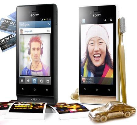 Sony Xperia miro Social Smartphone gold black