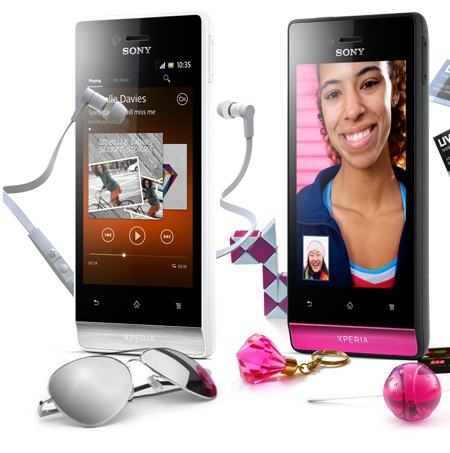 Sony Xperia miro Social Smartphone white pink