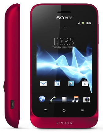 Sony Xperia tipo Entry-level Android Phone red